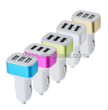 Car Charger, 3-Port USB Car Charger With Smart Sharing for Moible Phone USB Port Fast Charger