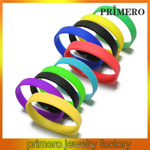 PRIMERO wholesale World Cup blank multicolor silicone bangle bracelet bangle colorful wrist bands blank slap bracelet wristband
