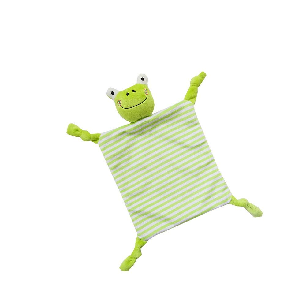 INCHANT Security Blanket Toy - Comfort Blankie For Child, Infant, Toddler - Stuffed Animal Plush Blanket Best Gift For Baby,Green Frog