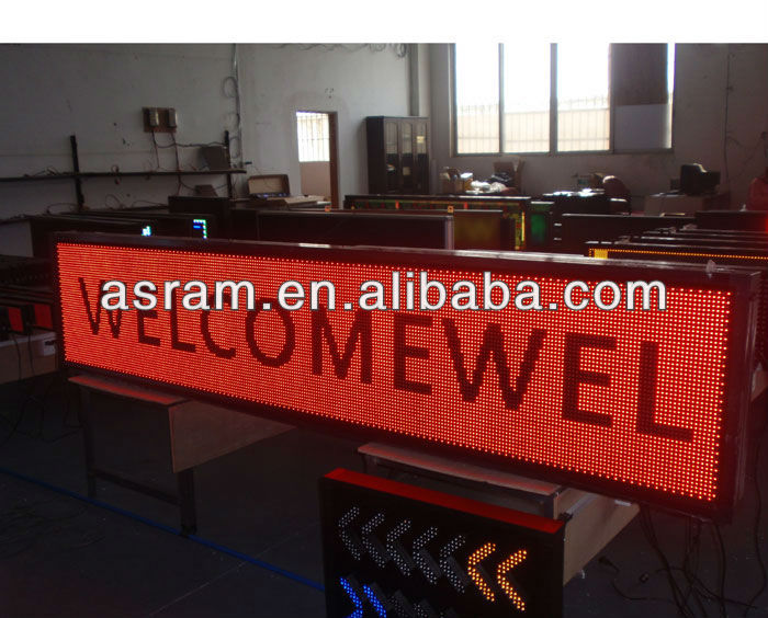 Alibaba P7.62 fast install programmable car led message sign PH16 three colors LED message sign---programmable