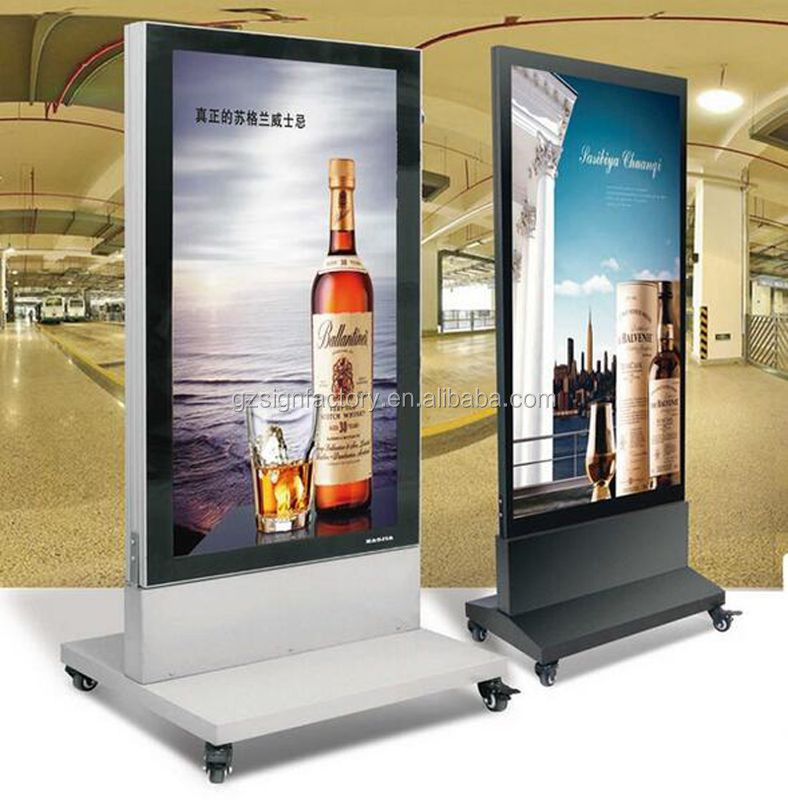 Outdoor Stand Led Menu Boards Double Sided Aluminum