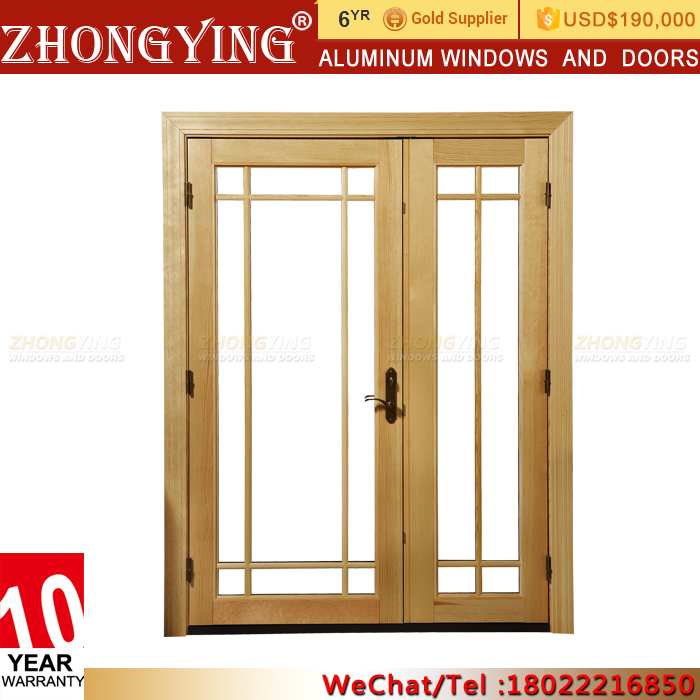 Hospital Small Size Interior French Blind Doors With Gl Inserts Side Panels Aluminium Door Frame Price