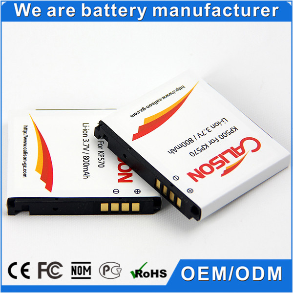 3.7v Lithium-ion china mobile battery KP500/KC550/KX500/KV500 for LG