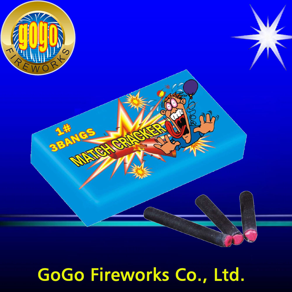K0201-3 1#3 Bangs match crackers firecrackers hot sale fireworks packing in 48/10/30 christmas fireworks