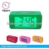Digital Clock with Silicon Rubber Cover Alarm Clock Record Snooze LED Backlight clock