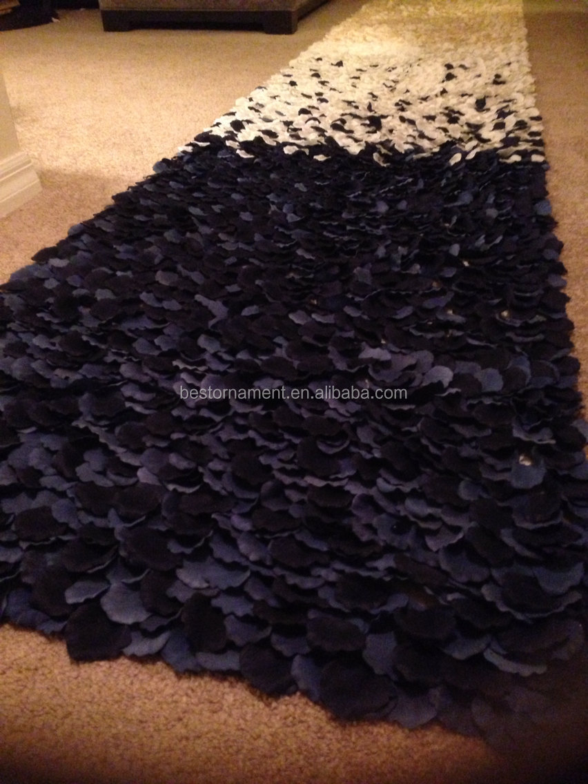 Nautical Navy Ombre Rose Petal Aisle Runner