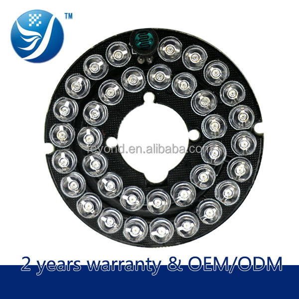 Shenzhen Fy 12v Infrared Ir Led Light Circuit Round Pcb Board For ...