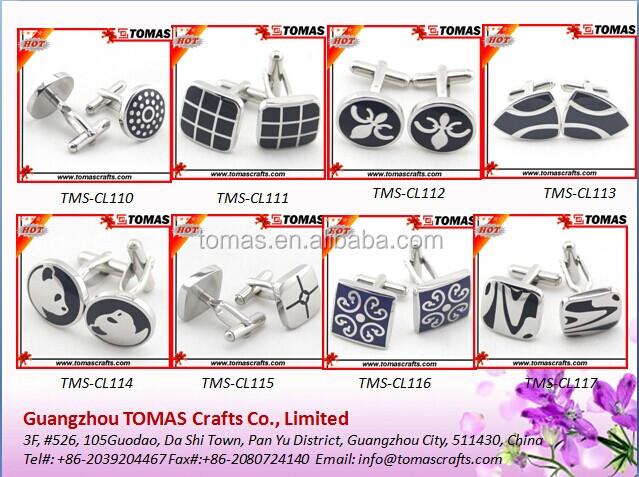 Cheap Bulk Custom Logo Cufflink Enamel Cufflink