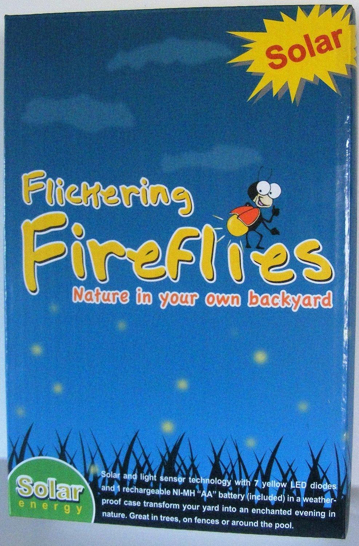 Get Quotations Flickering Fireflies Lights Solar Ed 7 Magic Bulb String