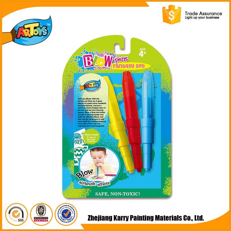 Professional manufacture 3 Colours blo pen set blow art pens blow pens commercial
