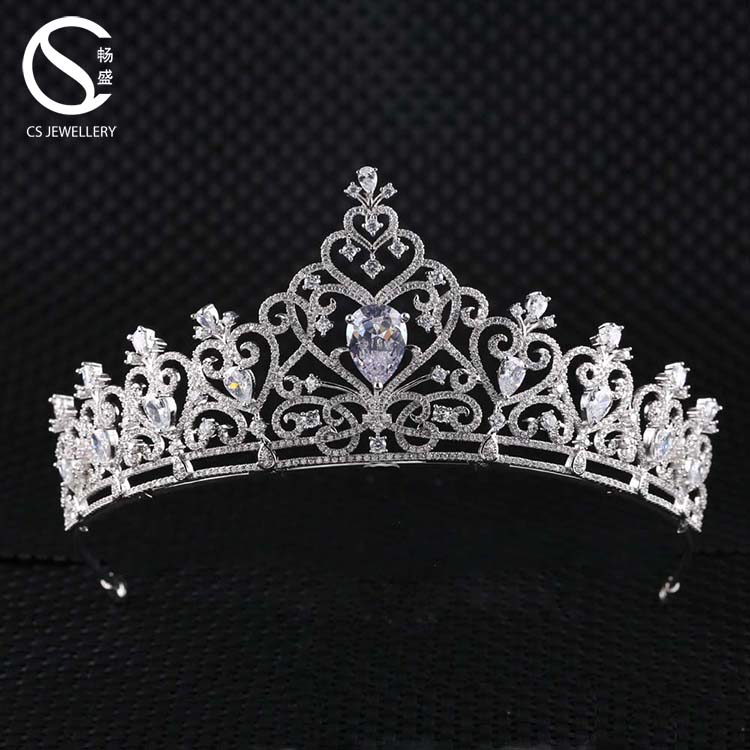 New Arrival Fashion Wholesale Bridal Crystal CZ Wedding Tiaras <strong>Crown</strong> For Party