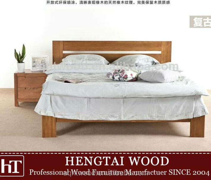 Madera maciza muebles de dormitorio cama cama king size for Cama king size de madera