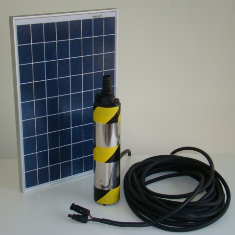 Solar power water submersible pump system DC 12V with 250w Polycrystalline solar panel