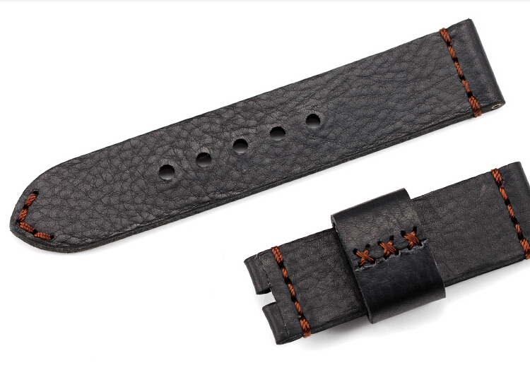 Classic Calfskin Watchbands  For Panerai Strap, 24MM / 26MM Handmade Leather Watchbands, Fast Delivery