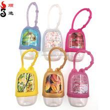 30ml mini pocket waterless hand sanitizer with silicone holder