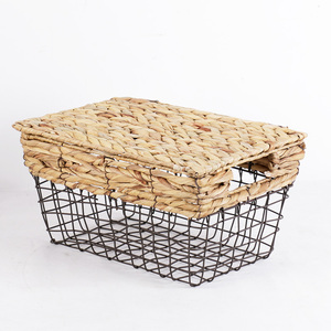 High Quality Cheaper Home Traditions Vintage Metal Wire Storage Bins Storage Basket