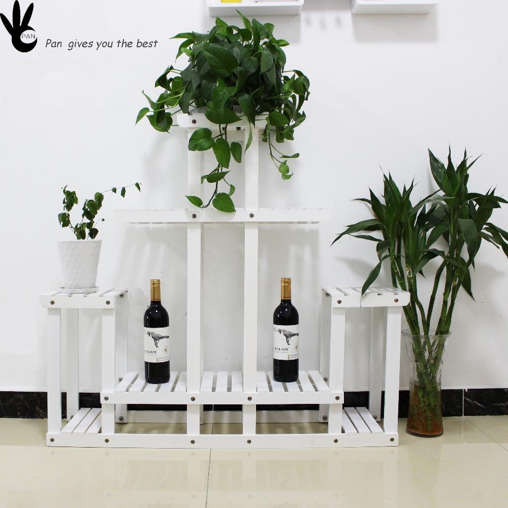 Grosshandel Beliebte Holz Blumentopf Regal Im Garten Oder Balkon