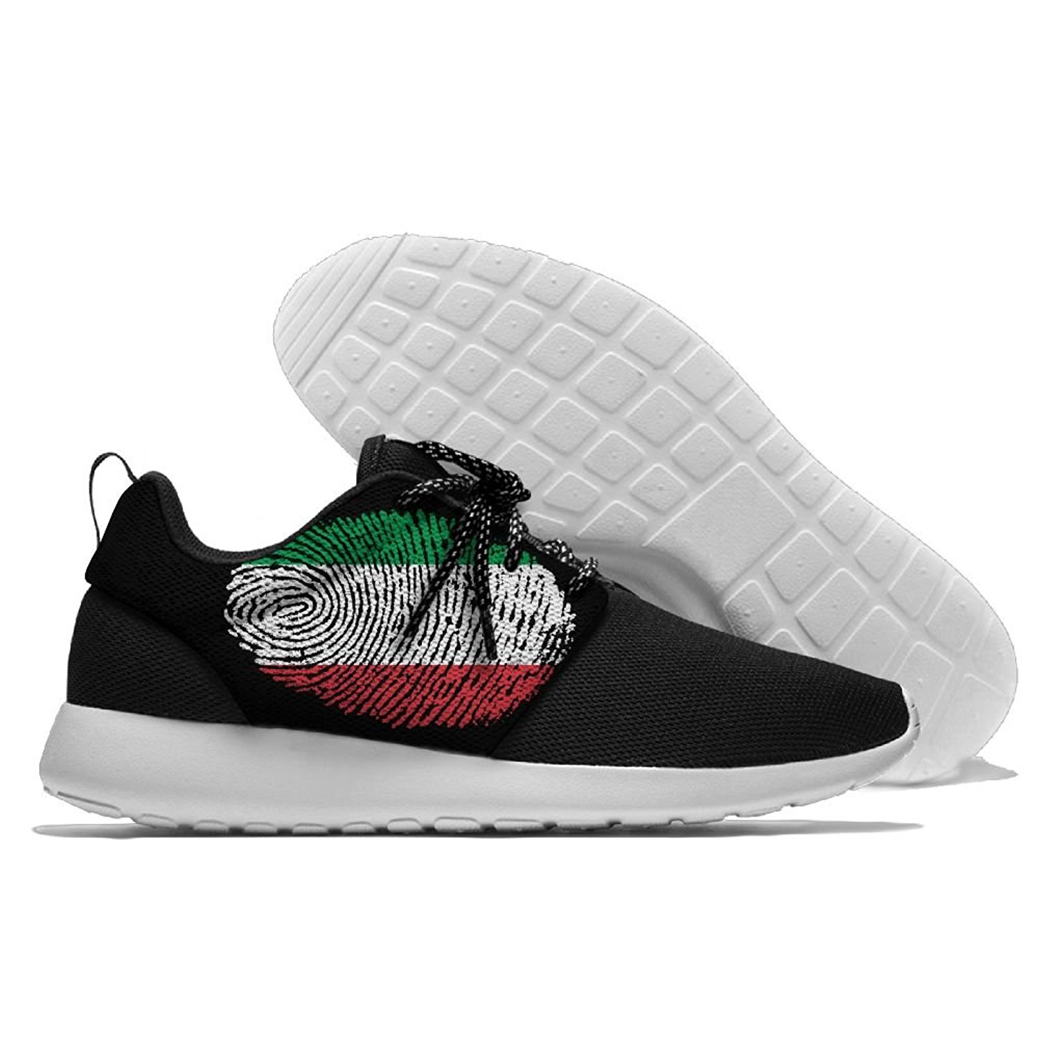 Men Women Gym Shoes Athletic Sneakers Italy Flag Fingerprint Mesh Training Shoes Running Shoes
