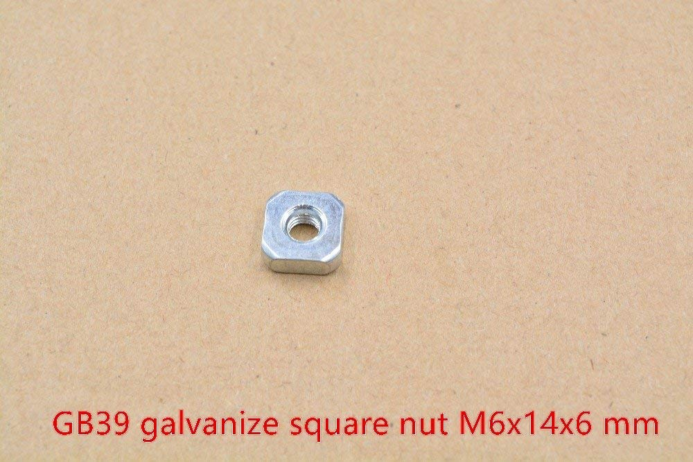 Uxcell a16032800ux0916 M8 Female Thread Metal Square Weld Nuts Dark Gray 7mm Height 50 Pcs