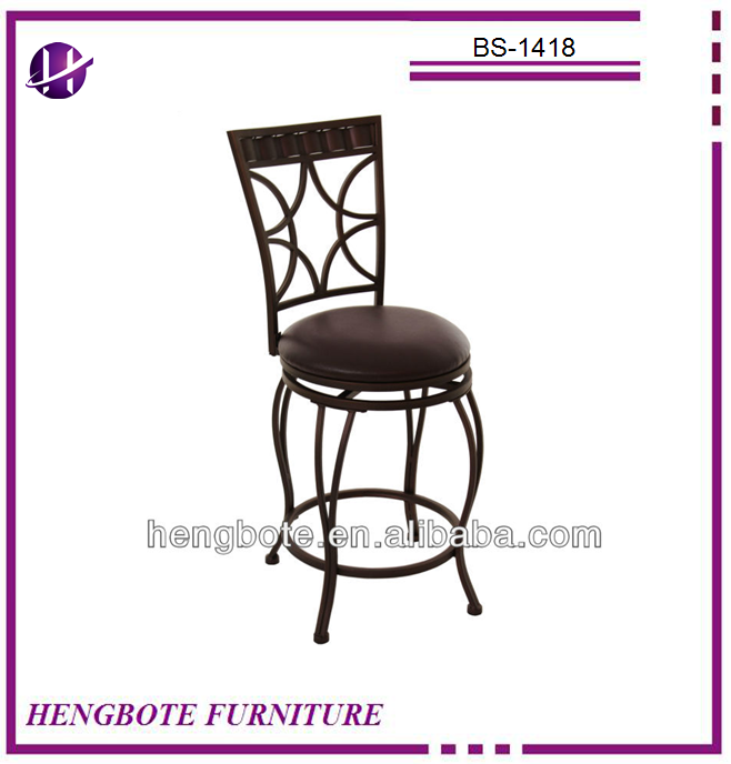 Discount sales French style vintage bistro leather high back swivel armless indoor out door bar chairs