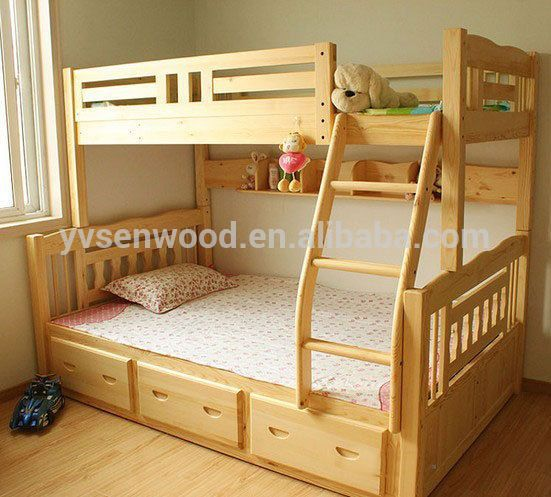 Wooden bed modern kids double deck bed buy kids double for Double deck bed images