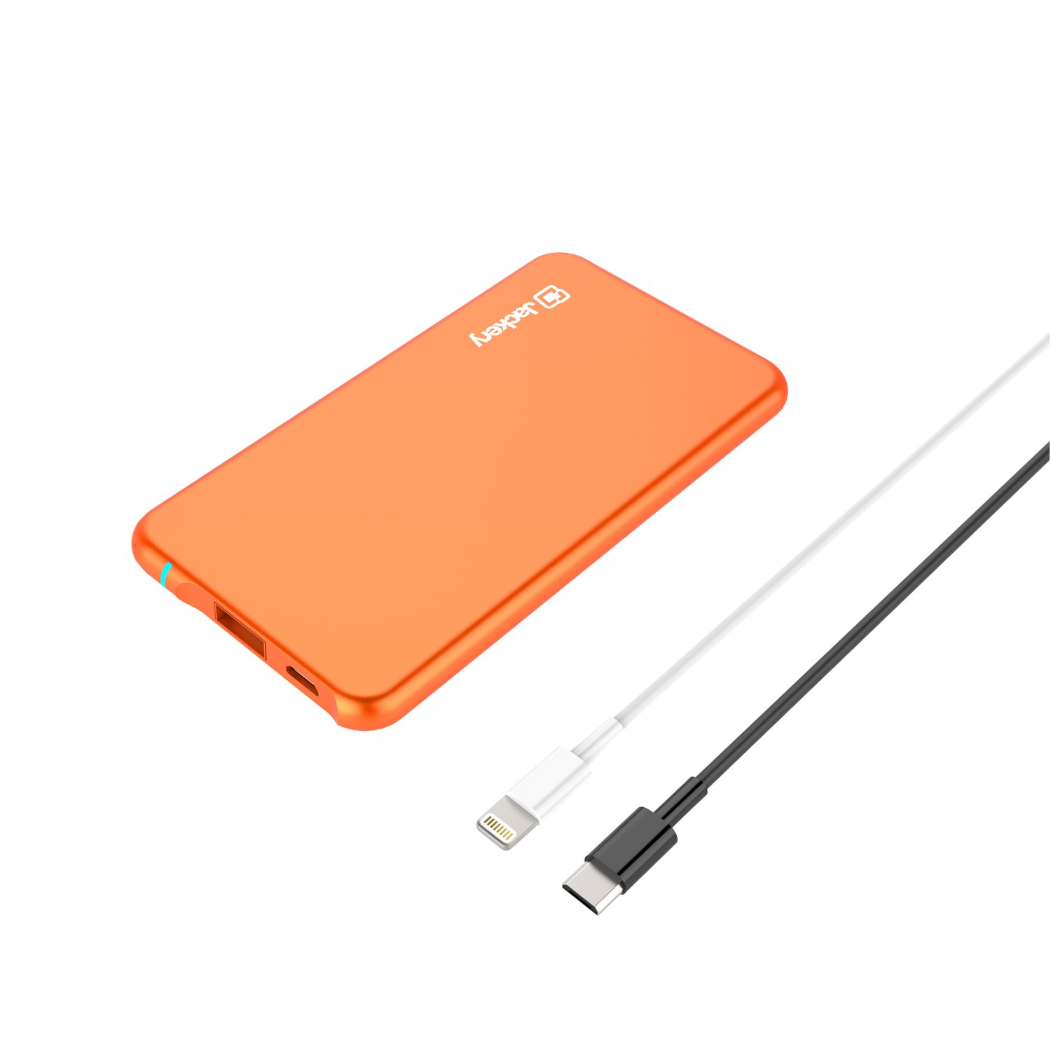 Jackery Air 6 - The Thinnest Portable Battery Charger & External Battery Pack - Designed for Apple iPhones and iPads - 3000 mAh (Apple MFI Certified Lightning Cable Included)
