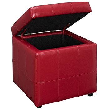 Living Room Or Bedroom Furniture Red Leather Storage Ottoman Stool With  Storage Box Foot Stool - Buy Storage Ottoman,Ottoman With Storage,Foot  Stool ...