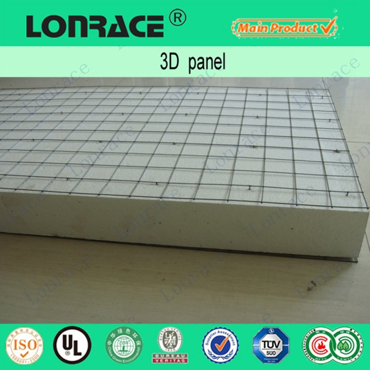 3d eps wire steel mesh wall panel