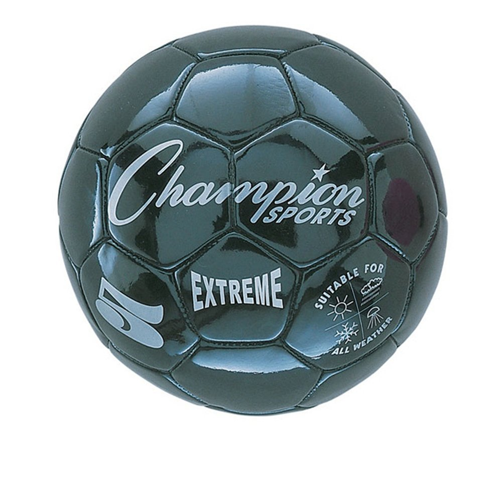 Champion Sports Extreme Series Composite Soccer Ball, Black, Size 5