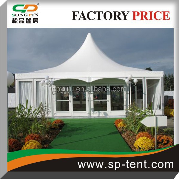 outdoor luxury Pagoda garden tent with ABS solid wall for party/event with family