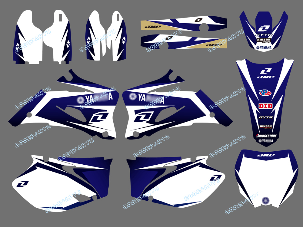 stickers Yamaha YZF 250 2003-2005 STRIKE style full graphics kit decals