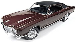 1971 Chevrolet Monte Carlo SS 454 Rosewood Metallic Limited Edition to 1002pcs 1/18 by Autoworld AMM1055