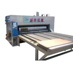 Semi automatic chain feeding flexo 3 colors printer with rotary slotter