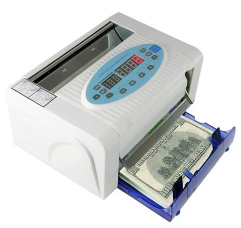 Multi-Currency Money Counter support Counterfeit Detector, 800 notes/min Speed, Free Shipping