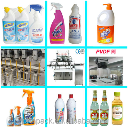 Hot! corrosive liquid (HCL/ acid/ toilet cleaning) automatic filling and capping machine production line