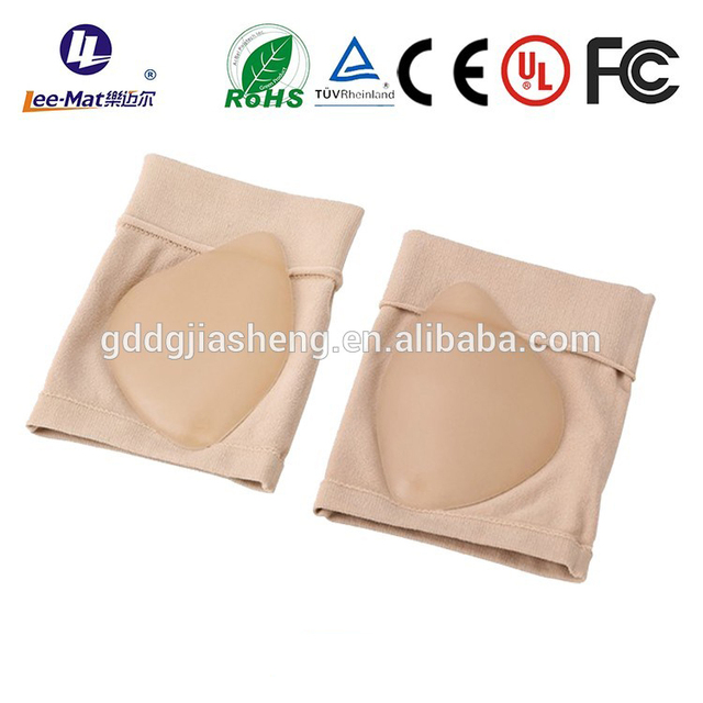 High quality low price orthotic silicon gel socks with gel pad