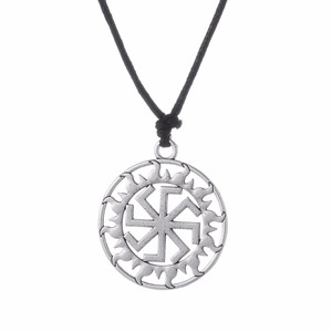 Sterling Silver Plated Pendant Sun Light Chakra Hindu Goddess Yoga Sri Yantra Wiccan Pagan Rope Necklace