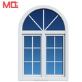 Double casement UPVC arched window with grill design
