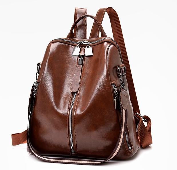 Weekly deals top sale  arrival  fashion women Leather backpack Casual style with Low MOQ