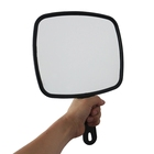 large wholesale customized logo hand held hair salon mirror black Barber Model Hairdressers Mirror with Handle salon mirror