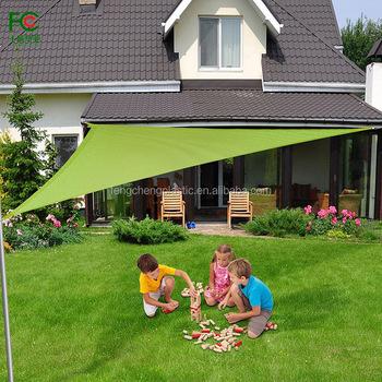 Dreieck Sonnensegel Carport, 100% HDPE Garten Sonnensonnensegel, Grünen  Fracht Schwere ösen Beschichtet Einfache