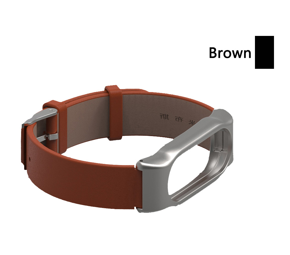 Mijobs Genuine Leather watch Strap  for mi band 2  Replacement Wrist Band wholesale