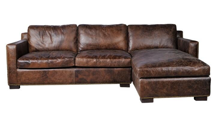 Rustic Sectional Corner Leather Sofa