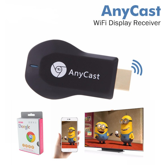 AnyCast <strong>TV</strong> <strong>Stick</strong> Wireless DLNA Airplay <strong>Dongle</strong> MINI PC Android Media Player <strong>TV</strong> <strong>Stick</strong> IOS11