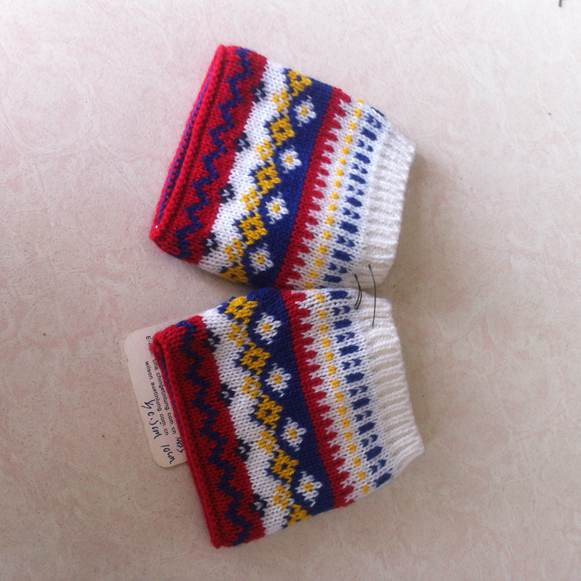 2014 new winter acrylic knitted gloves without fingers