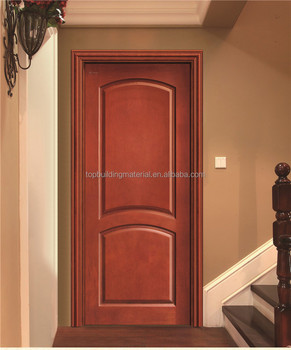 Customized red oak wood door design