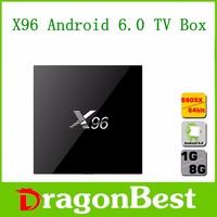 Watch live tv on your pc X96 Android 6.0 TV Box 1G/8G Amlogic S905X 4K Kodi Full HD Smart Media Player