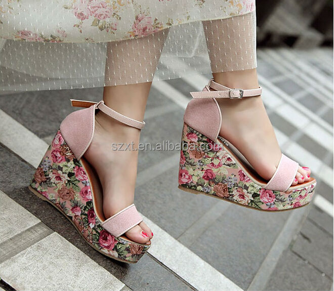 Girls Summer High Heels Wedge Bech Sandal Womens Fashion Bohemia ...