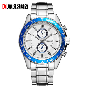 Full Steel Strap Men's Watch Hot Sales Men's Military Watches Curren Fashion Men's Curren Watches Model Curren 8010 Army Watches