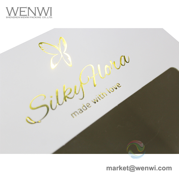 Wholesale Extra Large White Printed Gold Foil Logo Paper Hat Boxes for Women